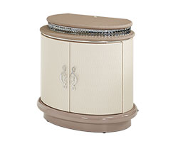 Overture Upholstered Nightstand Cristal